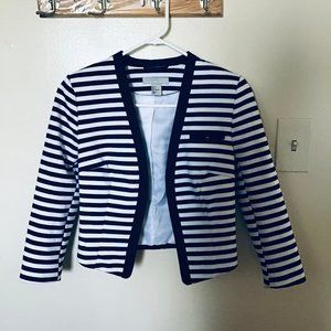 H&M Blazer with blue and white stripes
